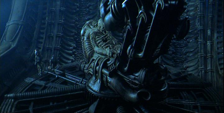 the Derelict, an alien spacecraft shown in the movie Alien