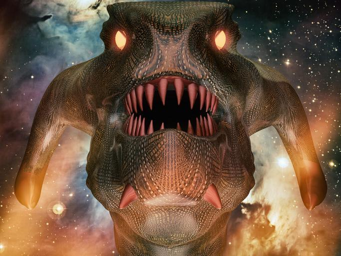 A representation of the reptilian alien race that is taking over the world