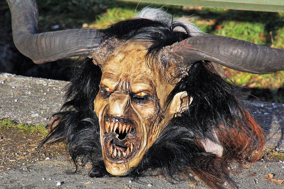a satanic mask