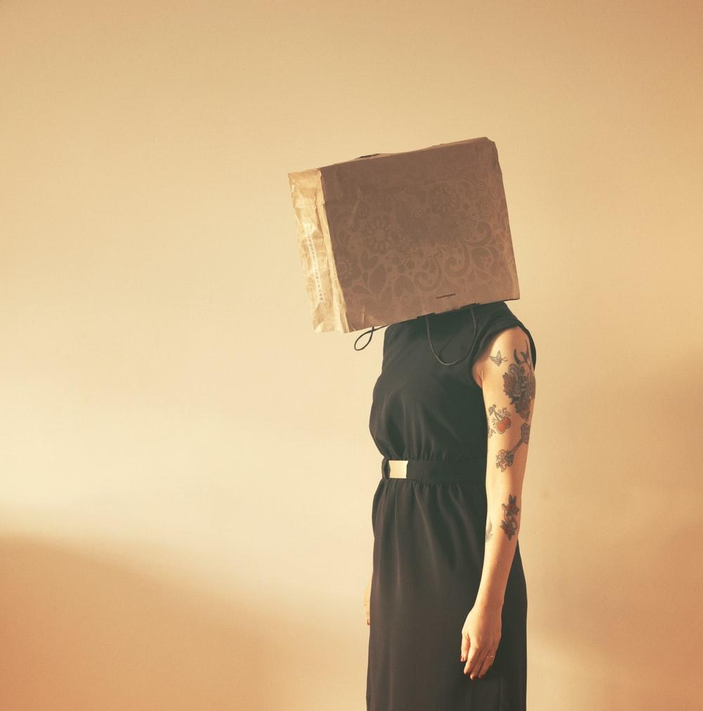 a woman struggling to seek enlightenment