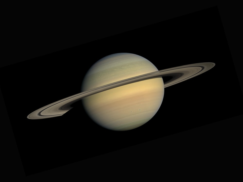 Saturn pictured with its rings